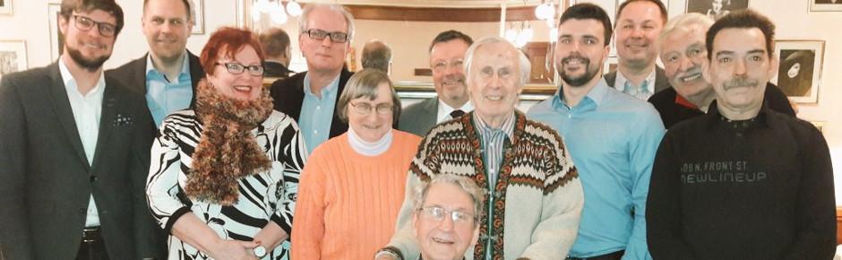 Der Vorstand nach der Jahreshauptversammlung 2017